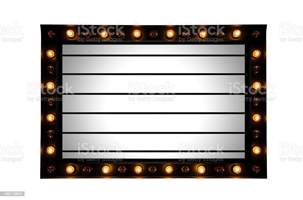Lightbox signage stock photo