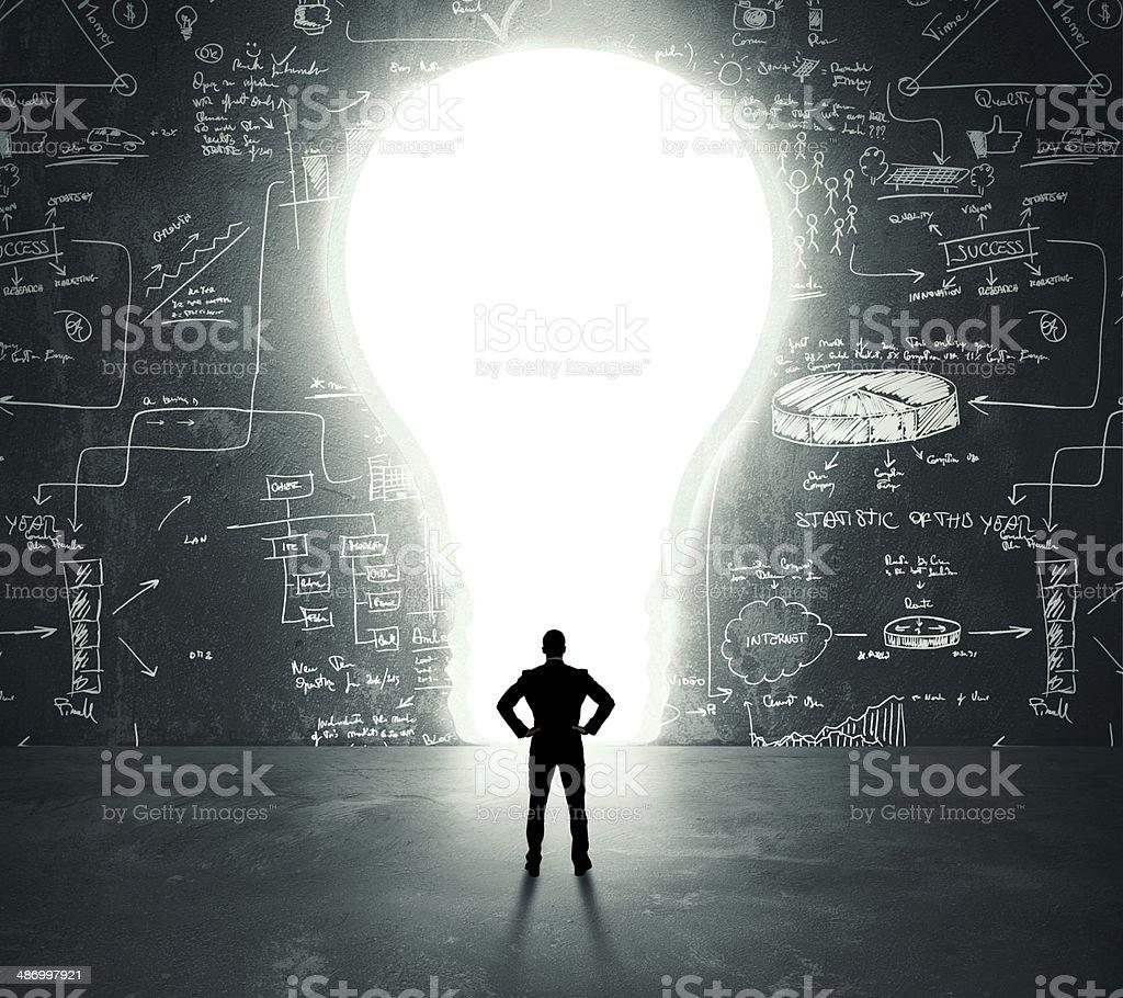 Lightbulb door royalty-free stock photo
