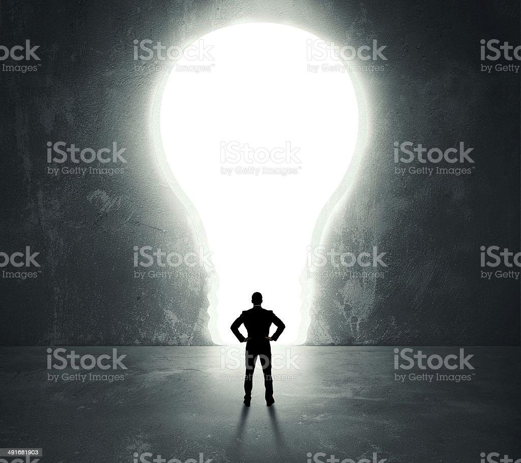 Lightbulb door stock photo