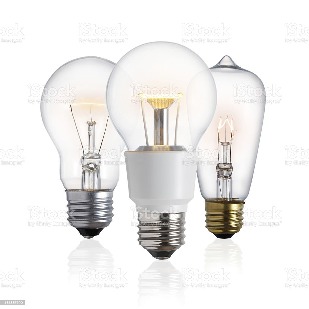 LED lightbulb evolution royalty-free stock photo