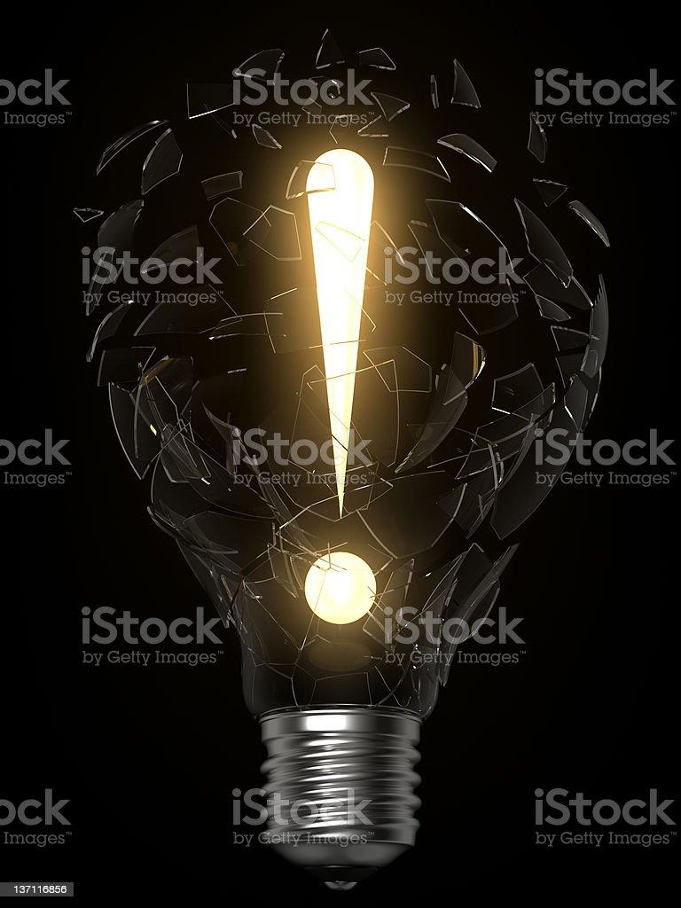 lightbulb idea exclamation point royalty-free stock photo