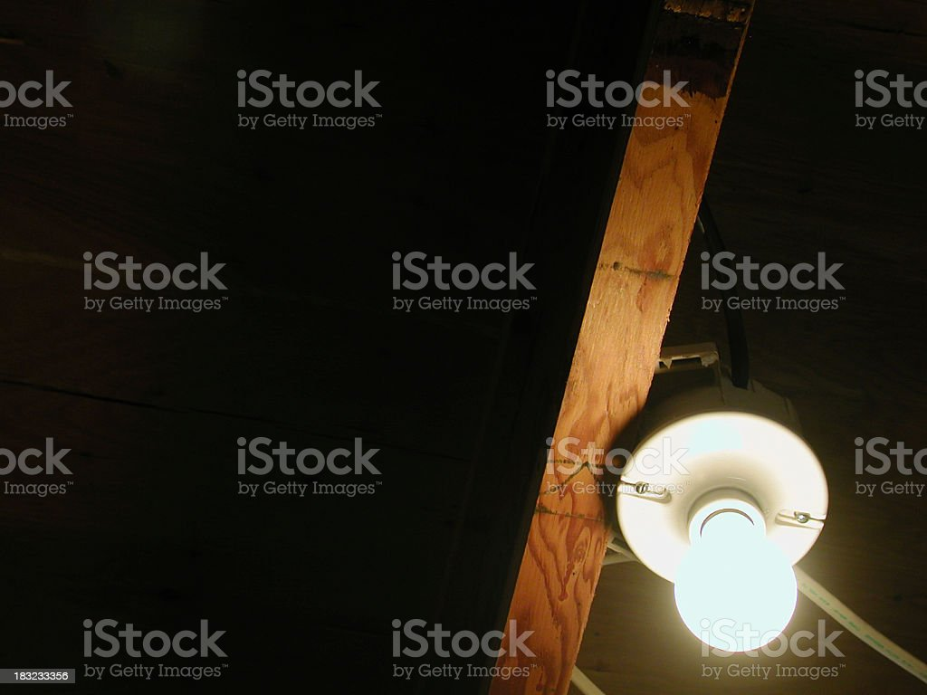 Lightbulb in the Dark royalty-free stock photo
