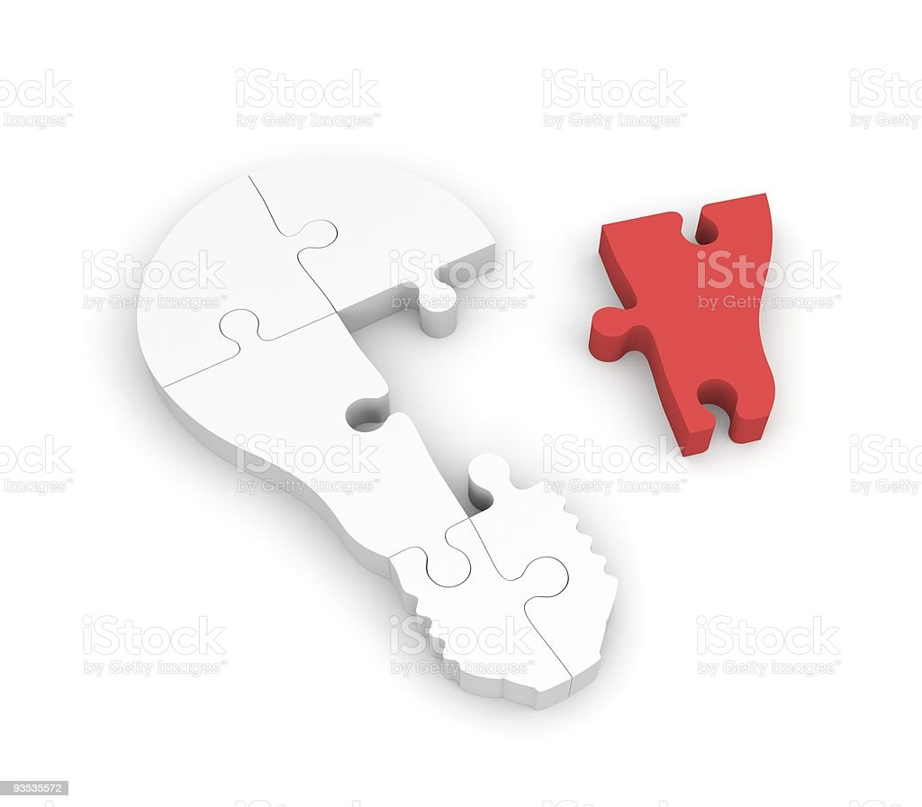 Lightbulb of the puzzle royalty-free stock photo