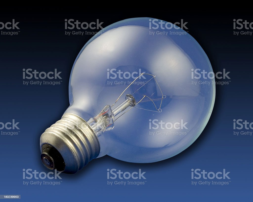 lightbulb (w/ clipping path) stock photo