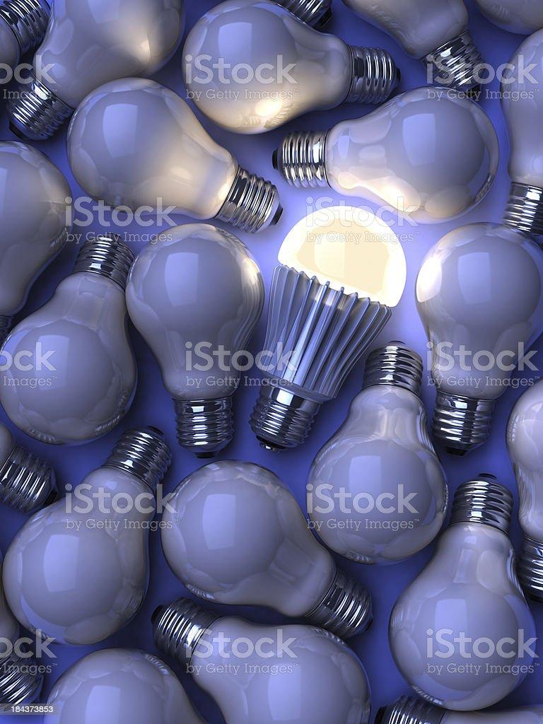 LED lightbulb royalty-free stock photo