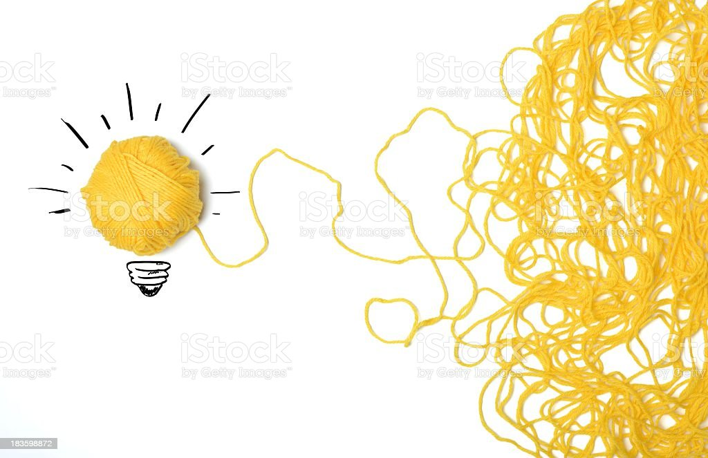 A lightbulb which represents an innovative idea  royalty-free stock photo