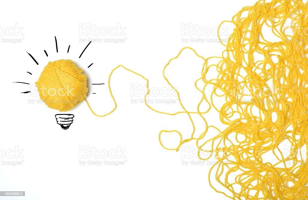 A lightbulb which represents an innovative idea  stock photo