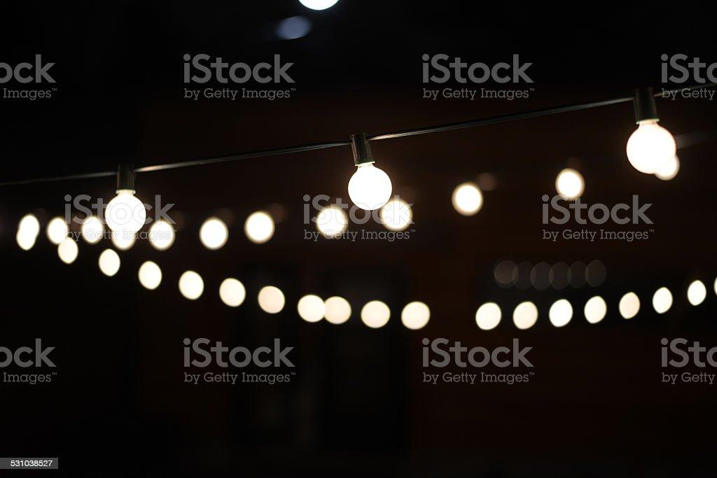 As lâmpadas no escuro foto de stock royalty-free