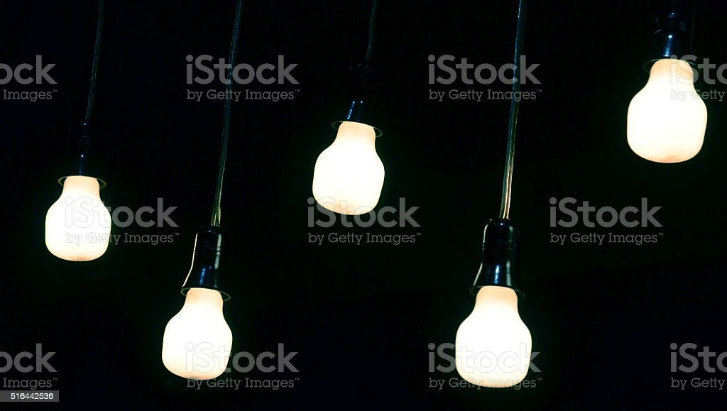 lightbulbs stock photo