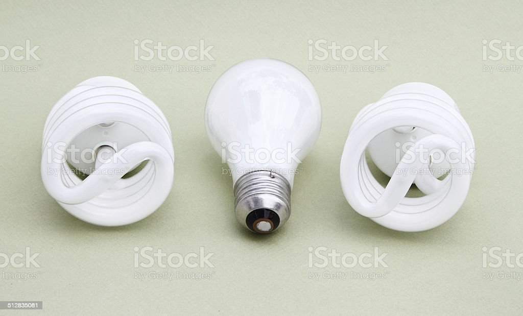 Lightbulbs variety stock photo