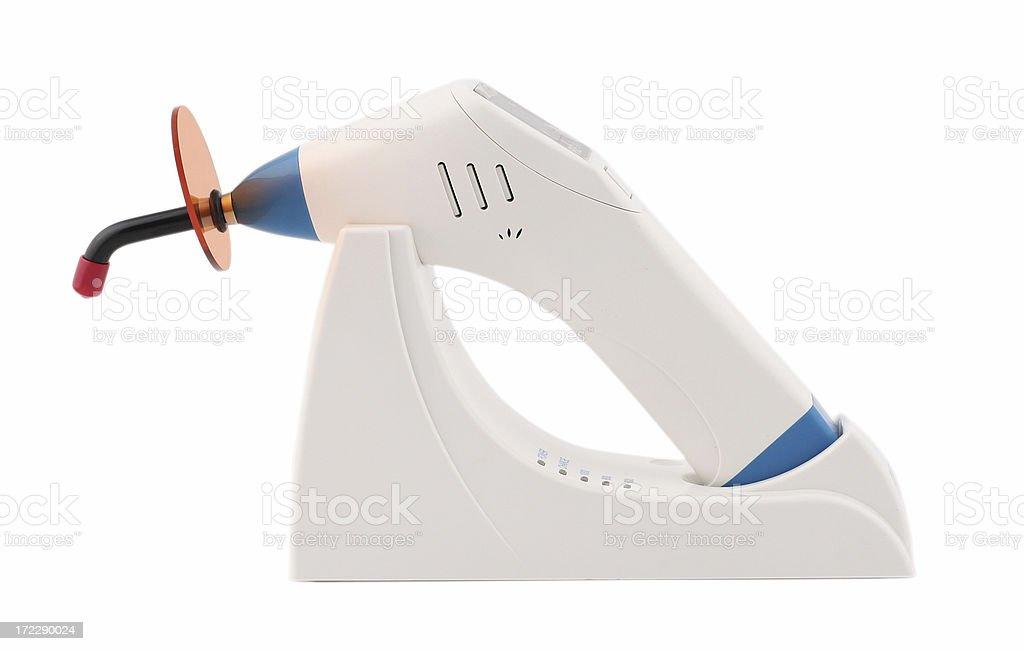 Light-curing dental lamp stock photo
