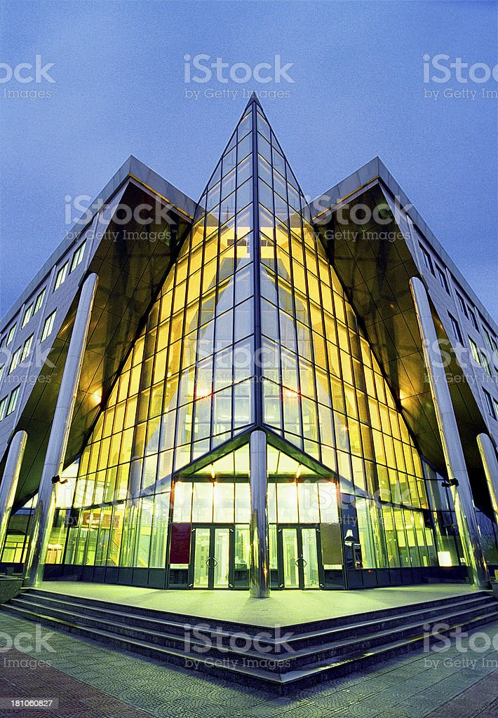 Lighted building. royalty-free stock photo