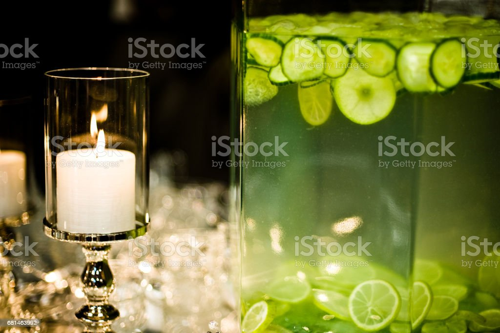 lighted candle stock photo