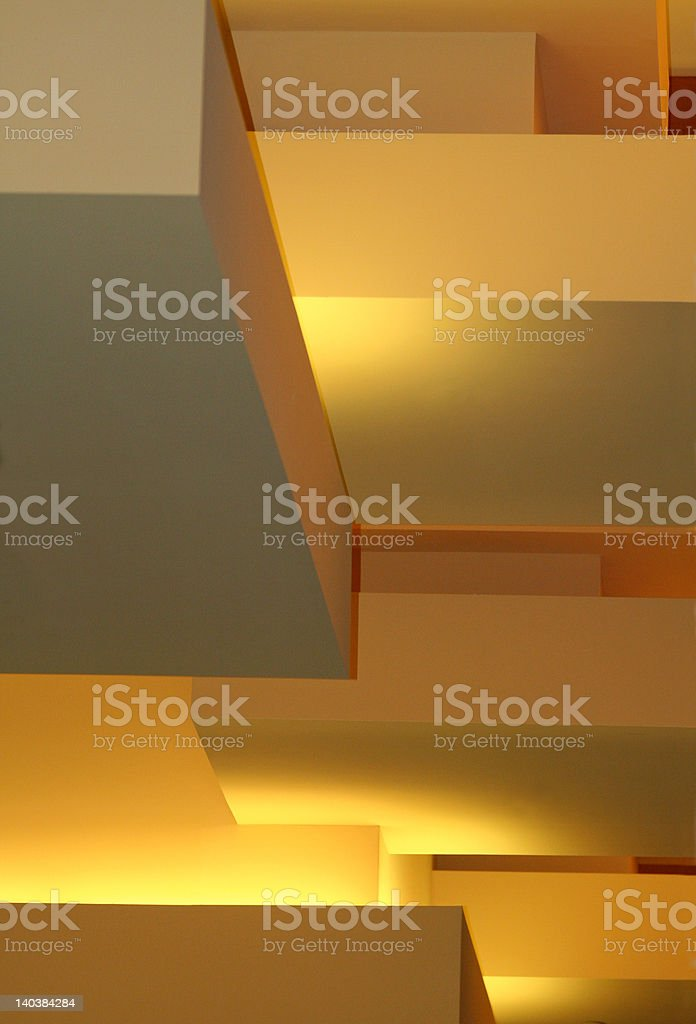 Lighted ceiling royalty-free stock photo