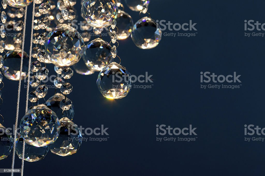 lighted crystal chandelier stock photo