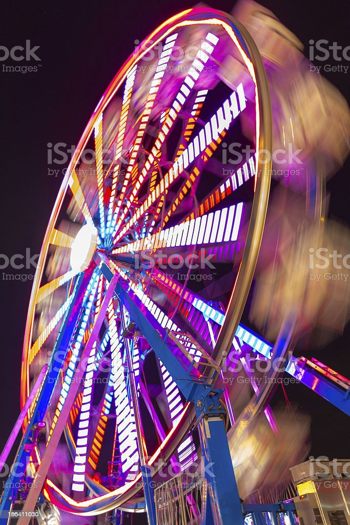 Lighted ferris wheel royalty-free stock photo