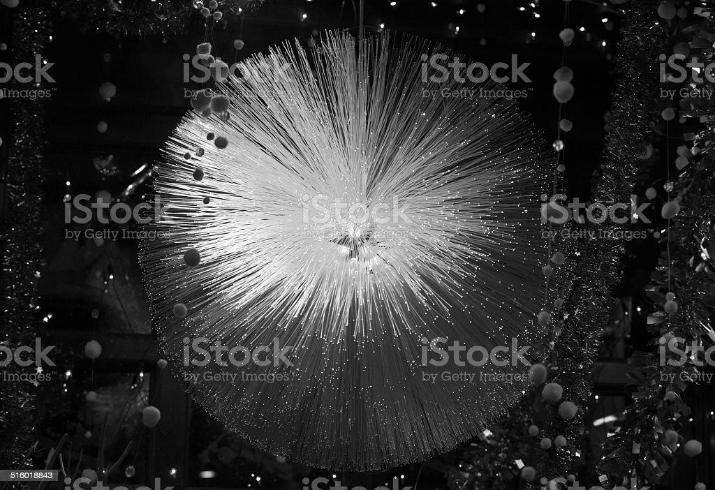 Lighted glass fibers with luminous tips royalty-free stock photo