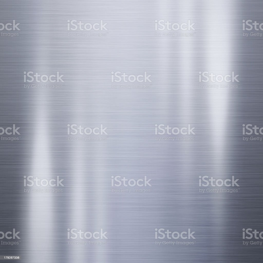 Lighted, slightly wavy-looking steel metal background stock photo