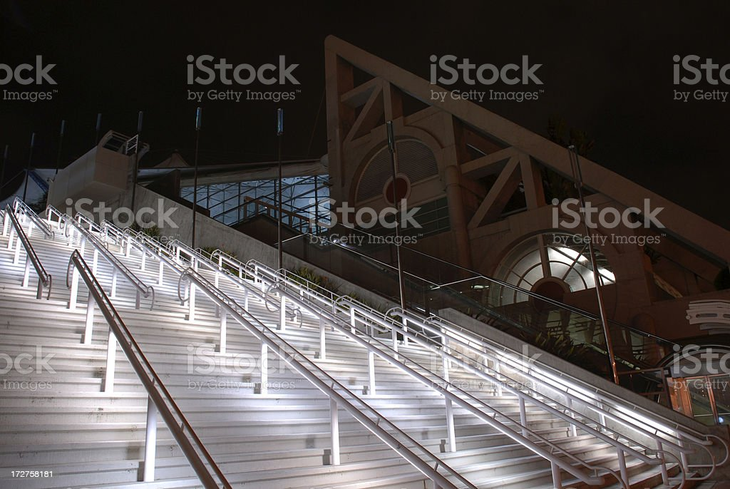 Lighted Stairs stock photo