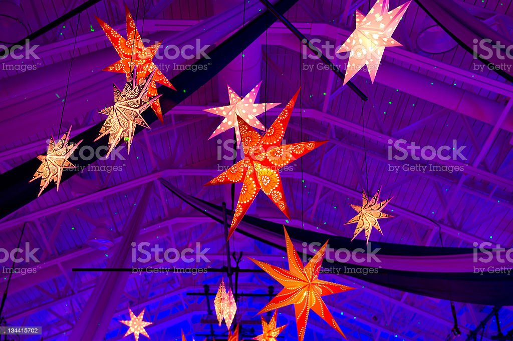 Lighted Star Mobile royalty-free stock photo
