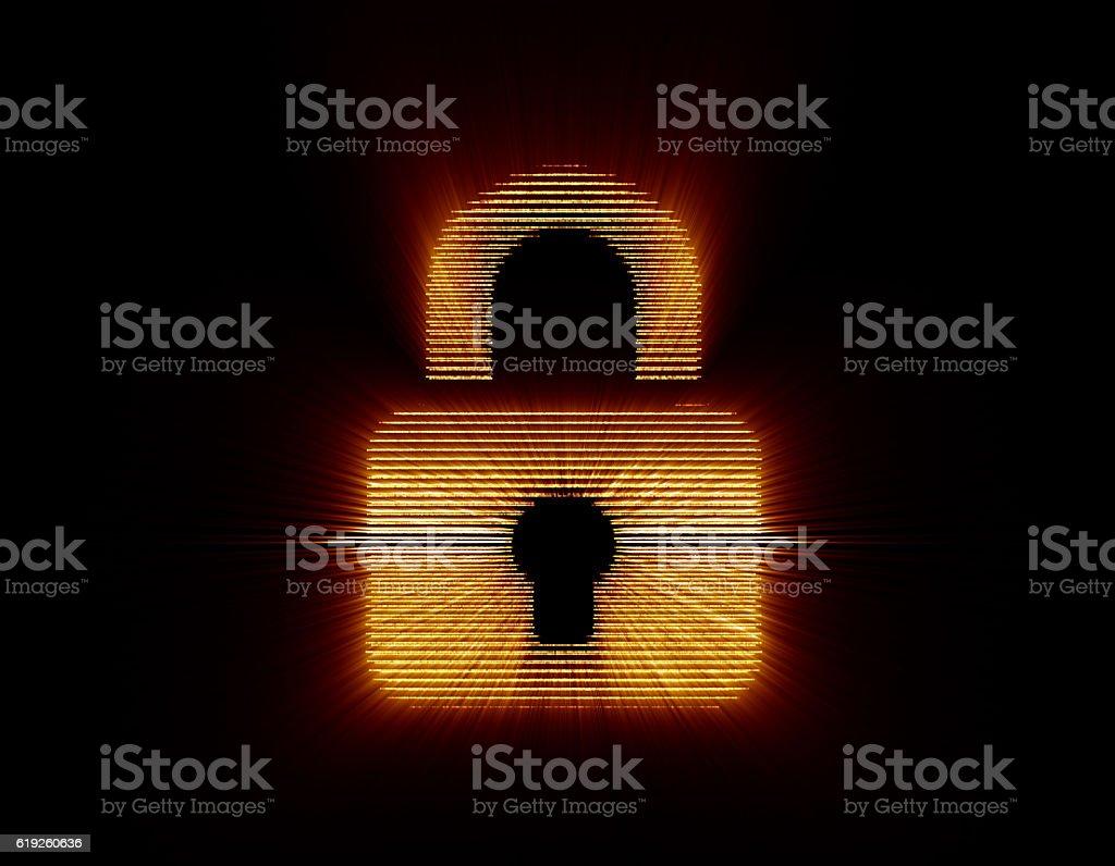 Light-emitting lock, circuit board and lock stock photo