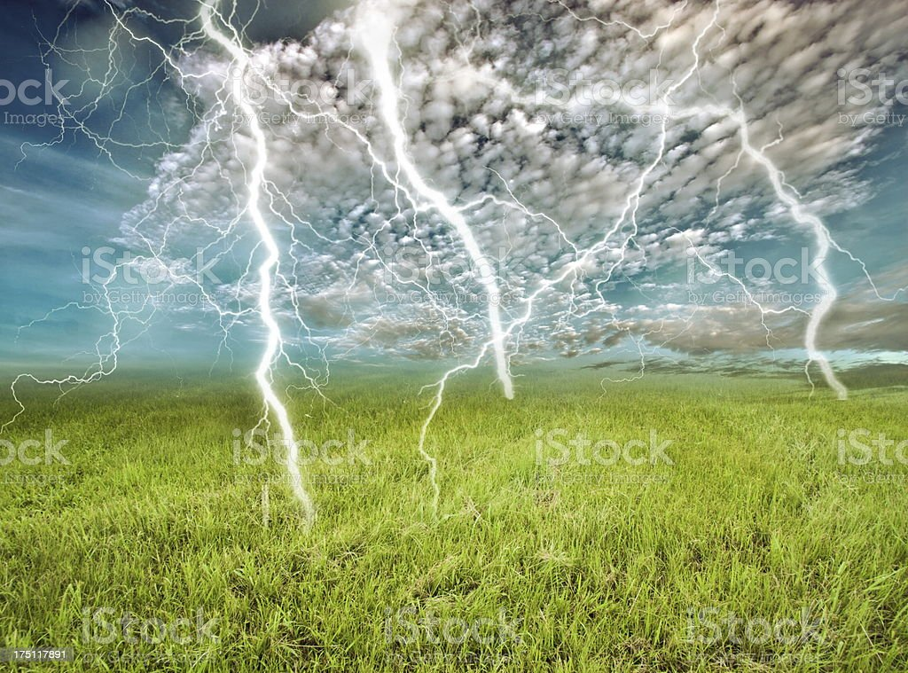 lightening in nature royalty-free stock photo