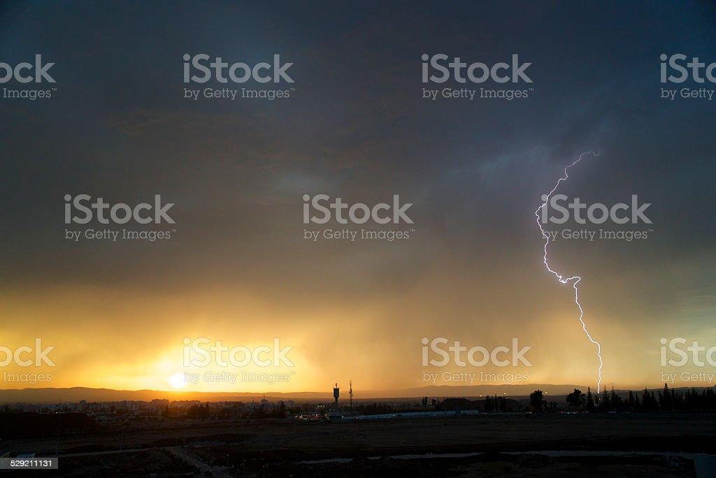 Lightening Strike Armageddon stock photo