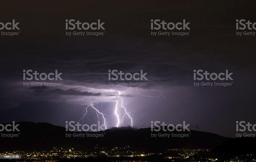 lightening strike stock photo