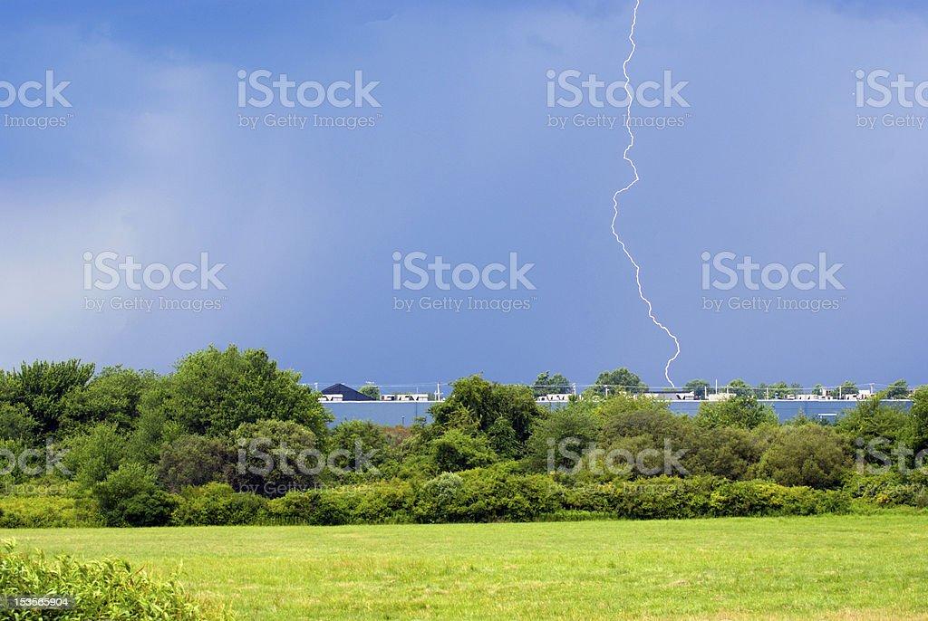 Lightening Strike royalty-free stock photo