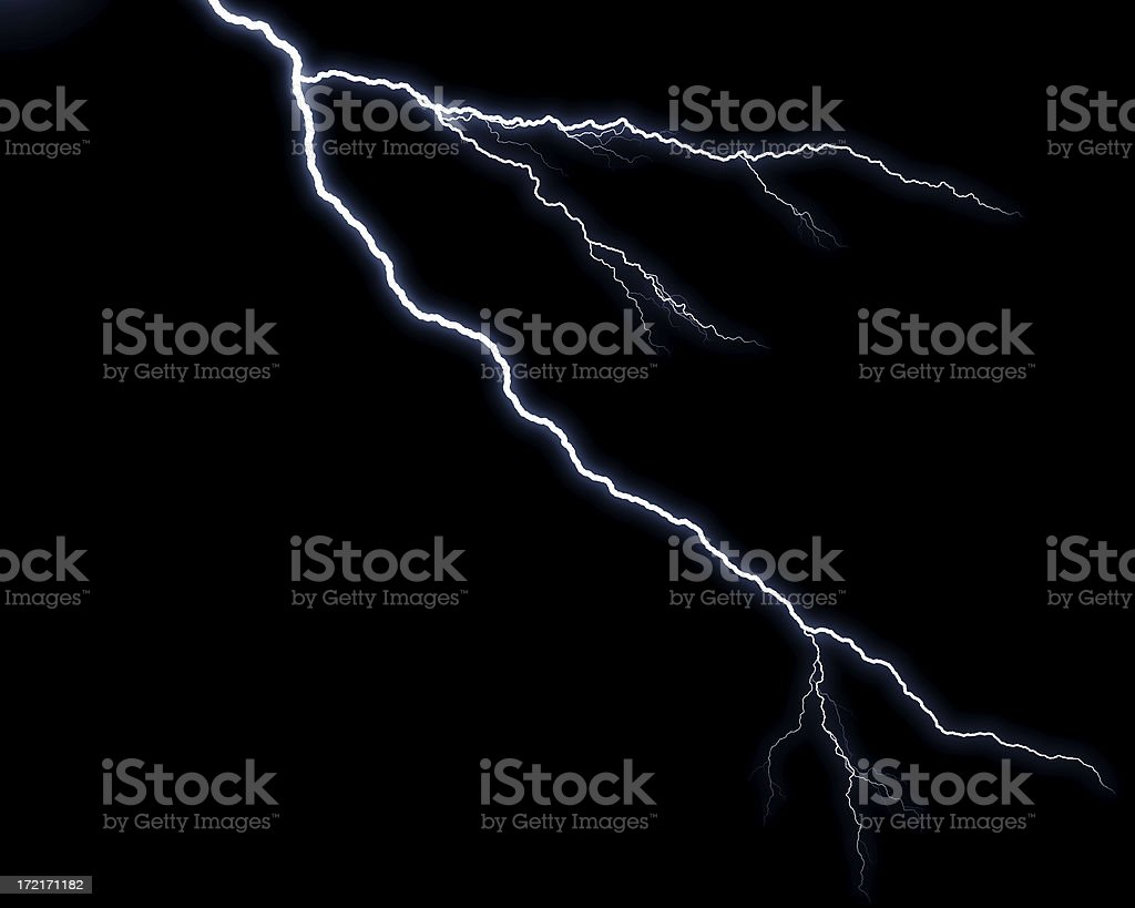 Lightening Strikes royalty-free stock photo