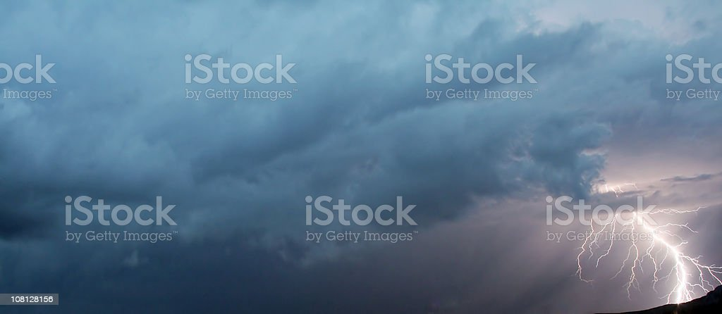 lighthning-thunderstorm royalty-free stock photo