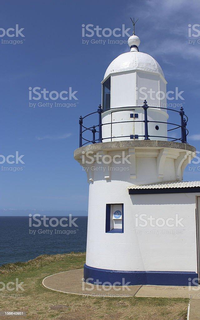Lighthouse against blue sky Port Macquarie Australia royalty-free stock photo