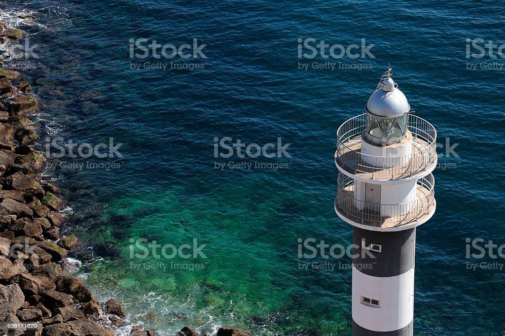 Lighthouse - Aguilas - Spain stock photo