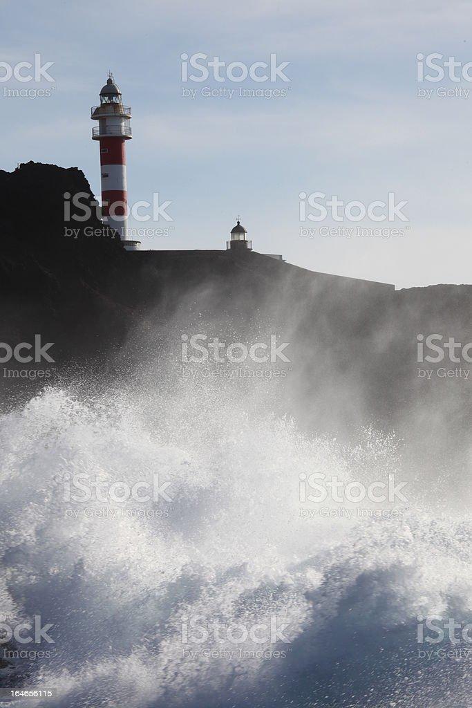 灯台と最新の波 ロイヤリティフリーストックフォト