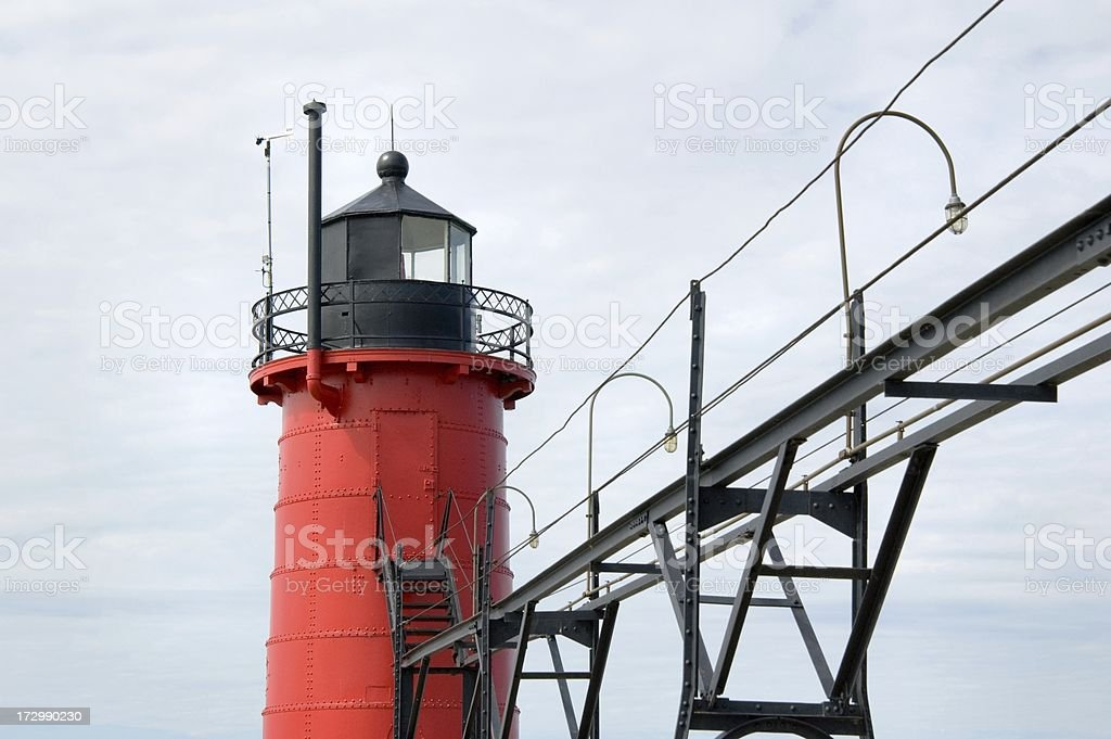 Lighthouse and Catwalk royalty-free stock photo