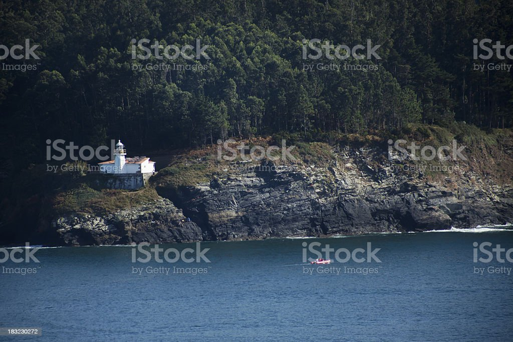 Lighthouse and cliff royalty-free stock photo