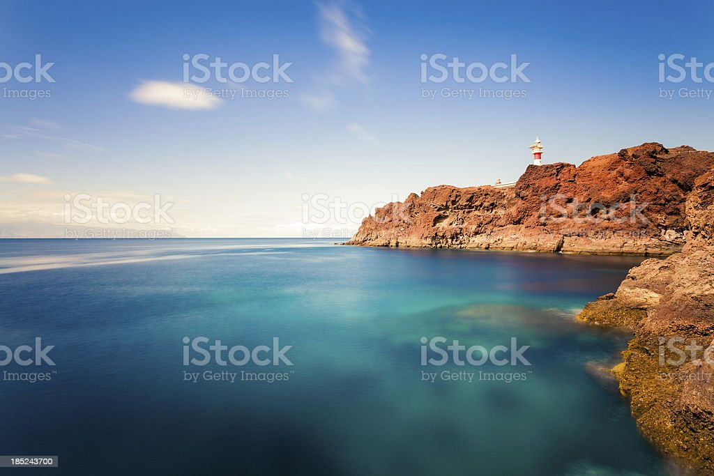 Lighthouse and Ocean in Canary Islands stock photo