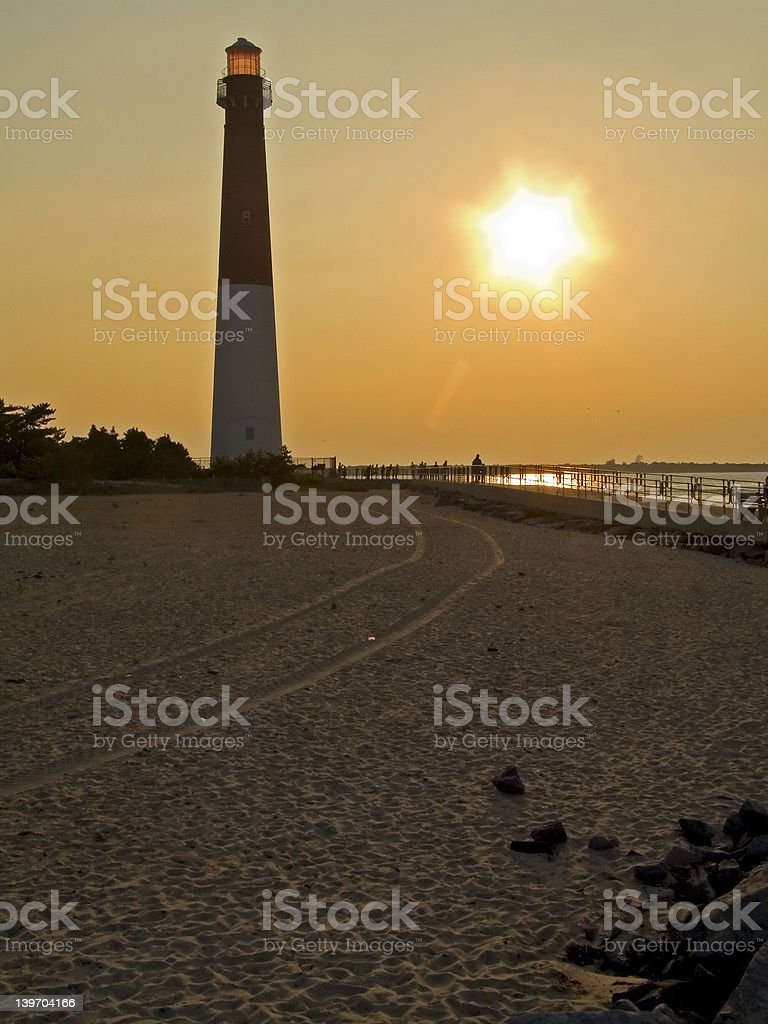 Lighthouse and Sand stock photo