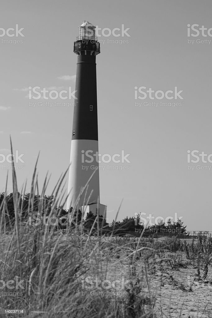 Lighthouse and Sand royalty-free stock photo