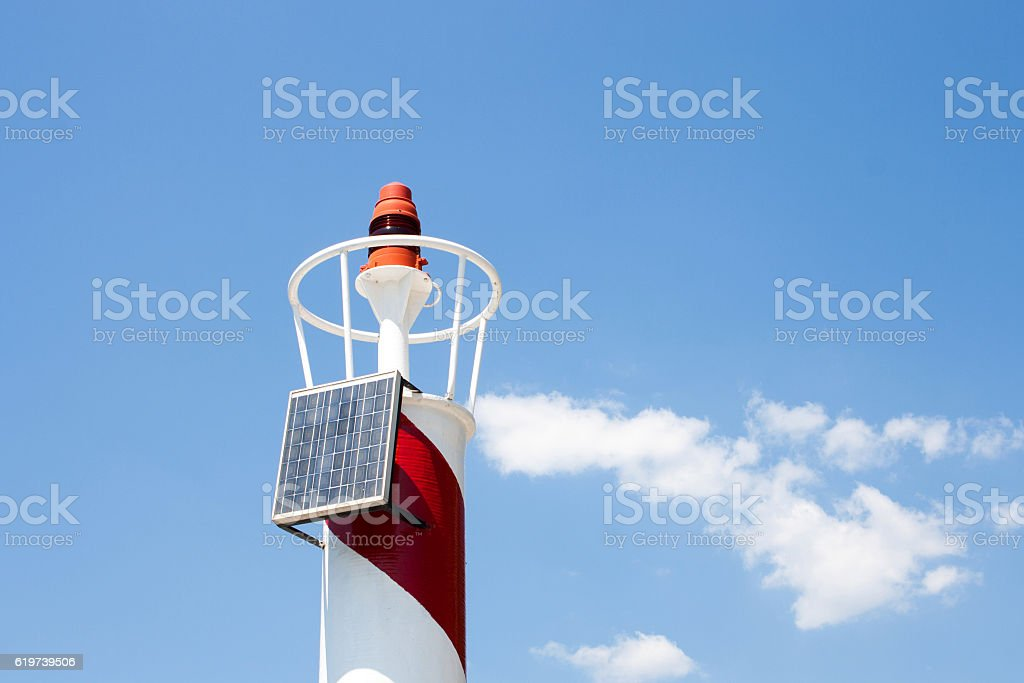Lighthouse and sky stock photo