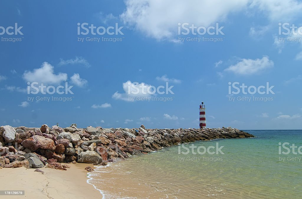 Lighthouse and the Ocean royalty-free stock photo