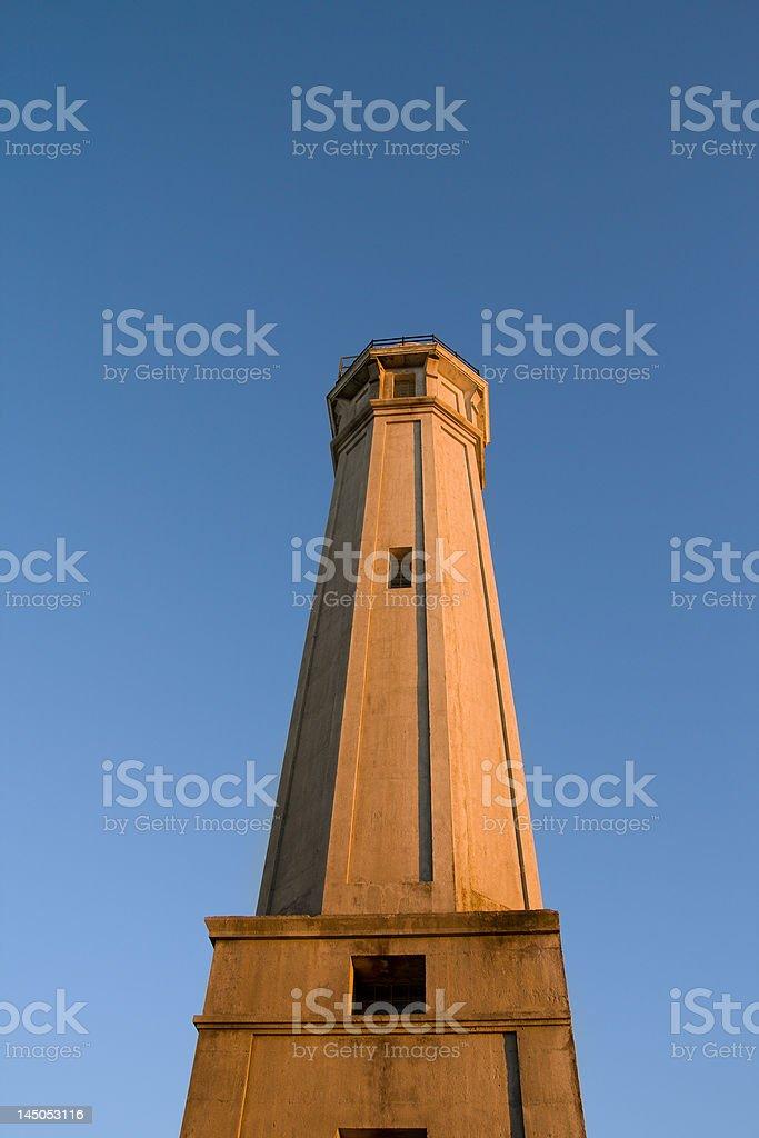 Lighthouse at Alcatraz royalty-free stock photo