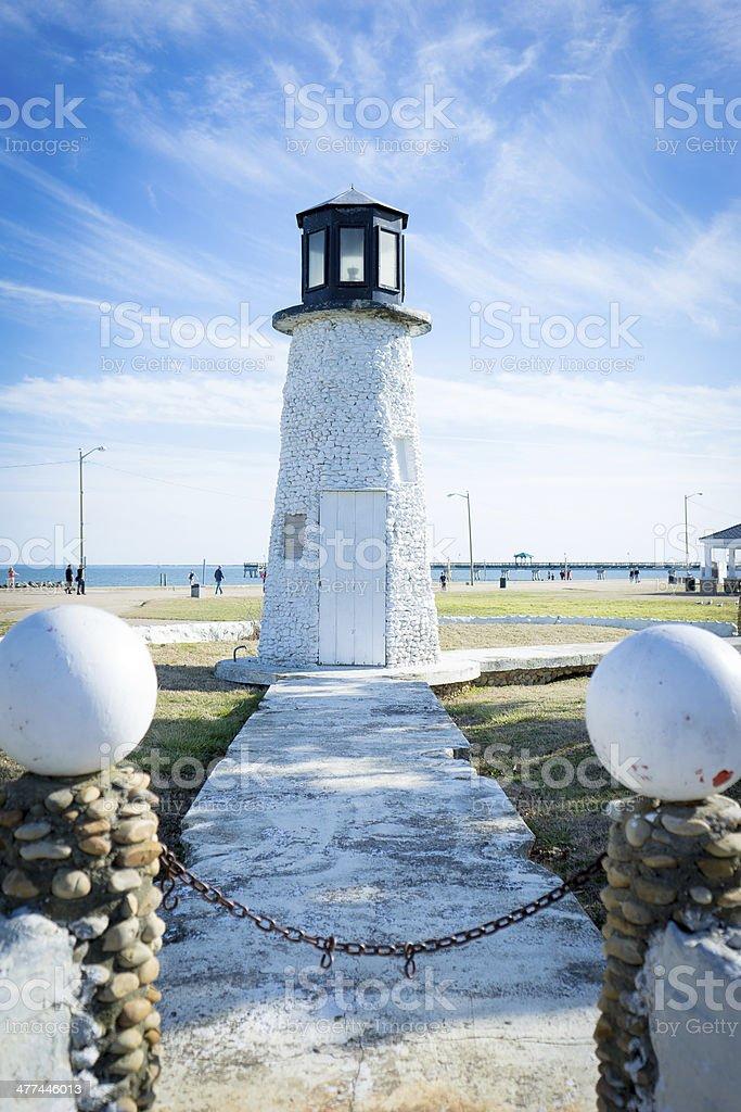 Lighthouse at Buckroe Beach stock photo