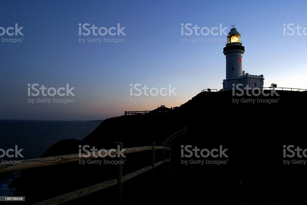Lighthouse at Byron Bay, New South Whales, Australia royalty-free stock photo