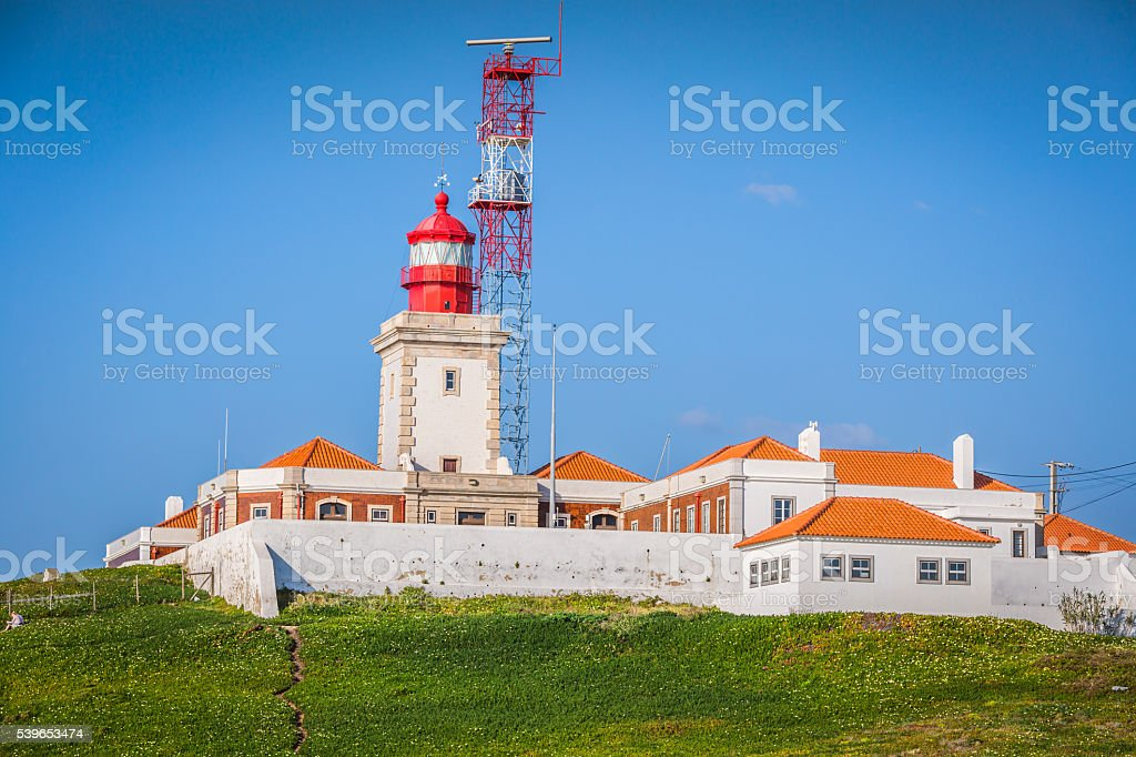 Lighthouse at Cabo da Roca,Portugal stock photo