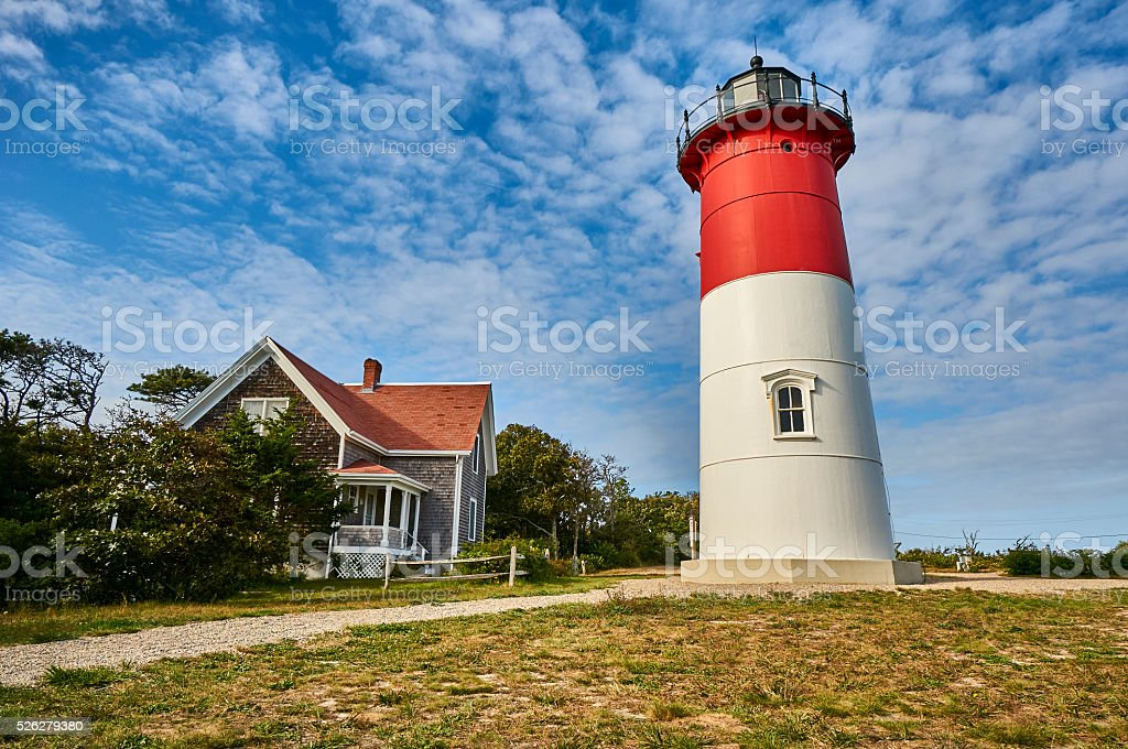 Lighthouse at Cape Code stock photo