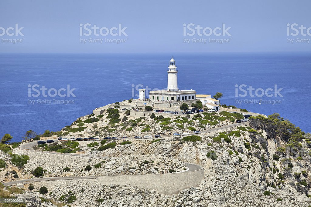 Lighthouse at Cape Formentor, Majorca stock photo