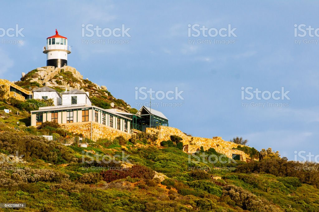 Lighthouse at Cape Point. stock photo