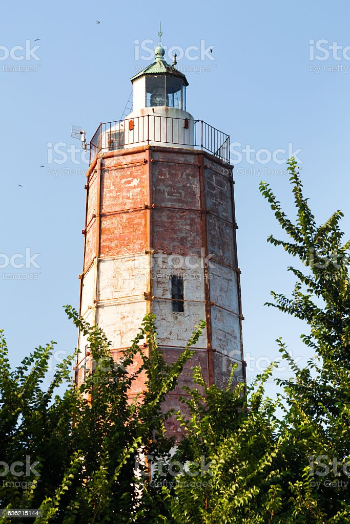 Lighthouse at Cape Shabla on the Black Sea Coast stock photo