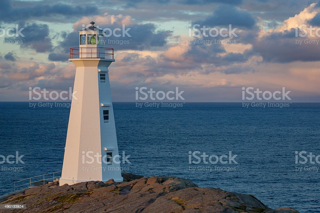 Lighthouse at Cape Spear stock photo